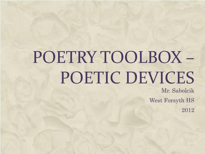 poetry toolbox poetic devices
