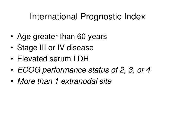 International Prognostic Index