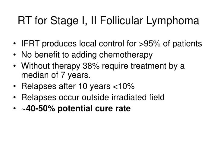 RT for Stage I, II Follicular Lymphoma