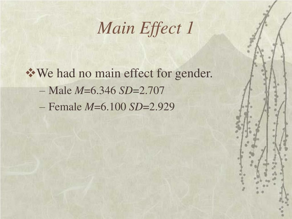 Main Effect 1