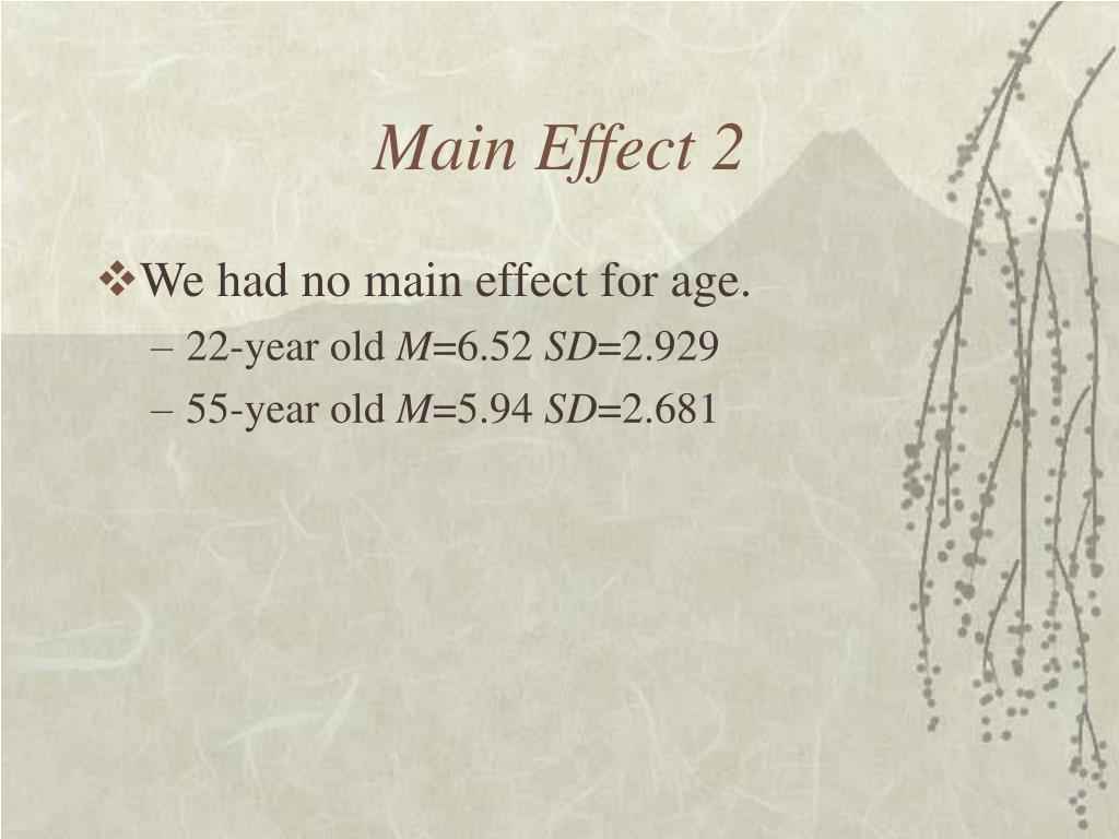 Main Effect 2