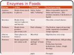 enzymes in foods