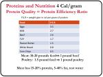 proteins and nutrition 4 cal gram protein quality protein efficiency ratio