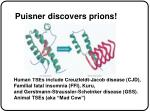 puisner discovers prions