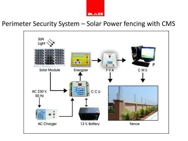 Perimeter Security System – Solar Power fencing with CMS