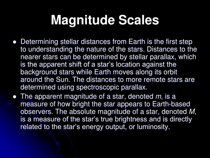 Magnitude Scales