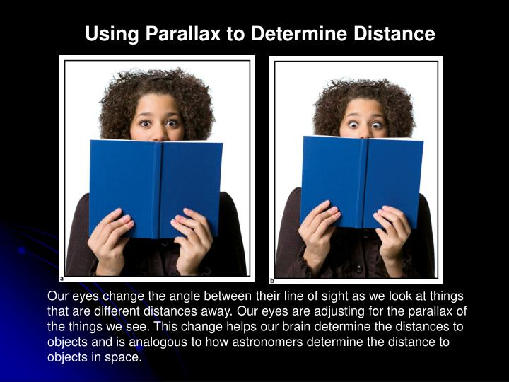 Using Parallax to Determine Distance