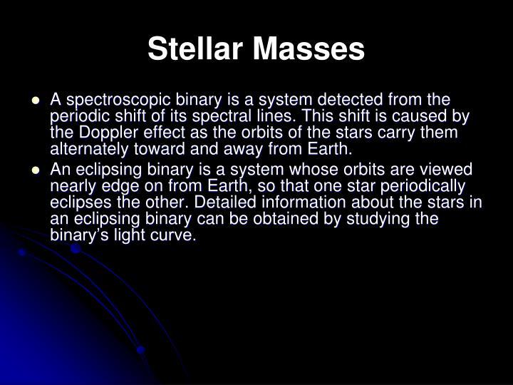 Stellar Masses