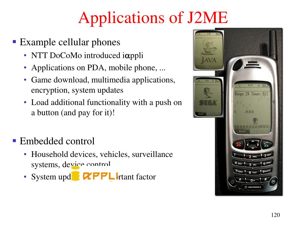 Applications of J2ME
