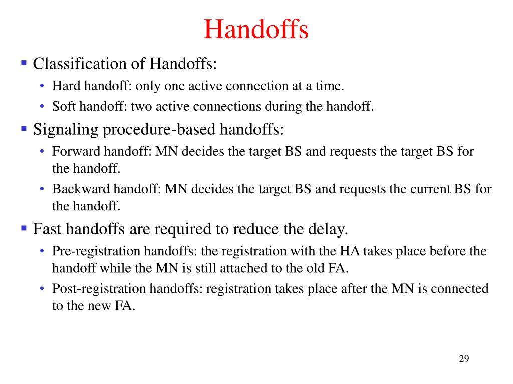 Handoffs
