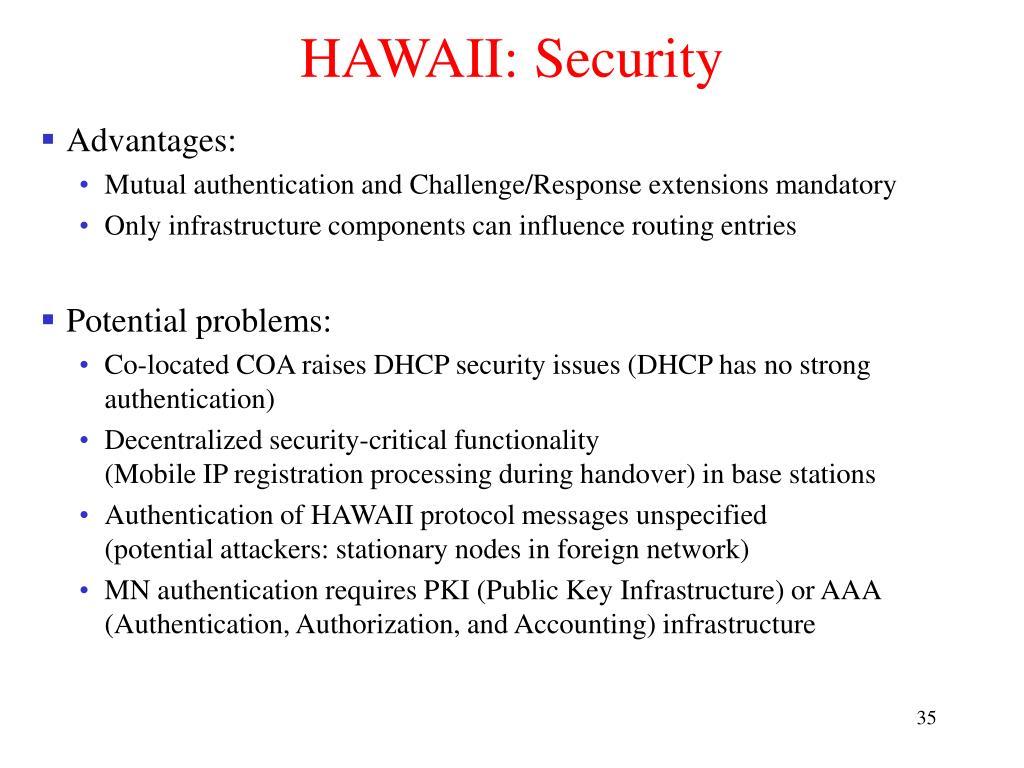 HAWAII: Security