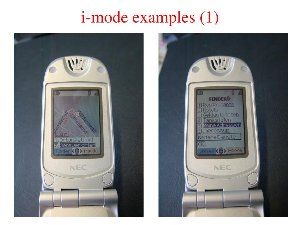 i-mode examples (1)