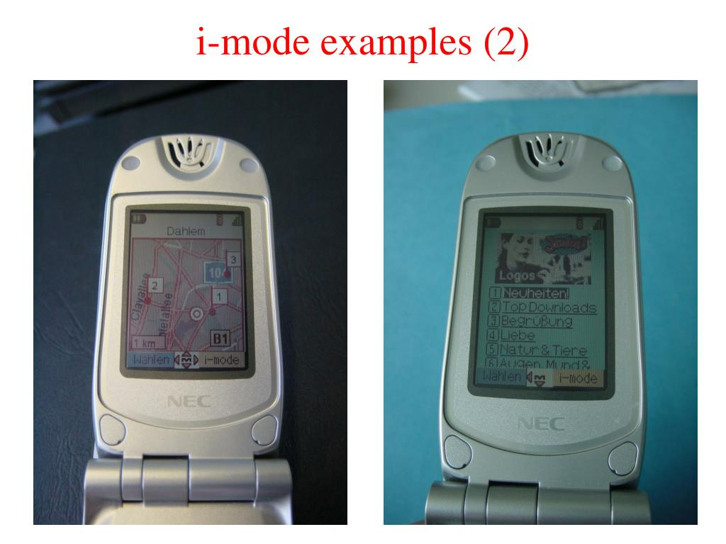 i-mode examples (2)