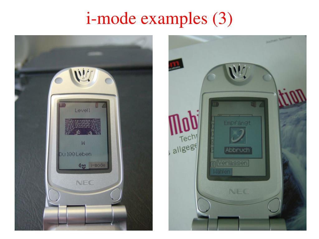 i-mode examples (3)