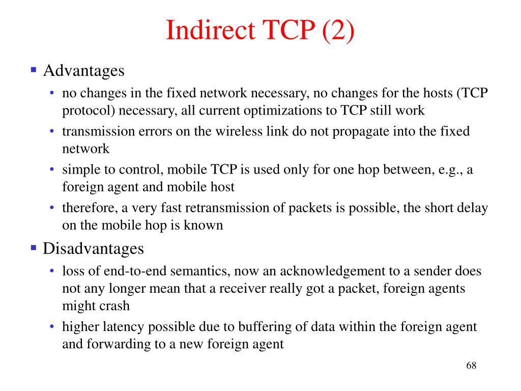 Indirect TCP (2)