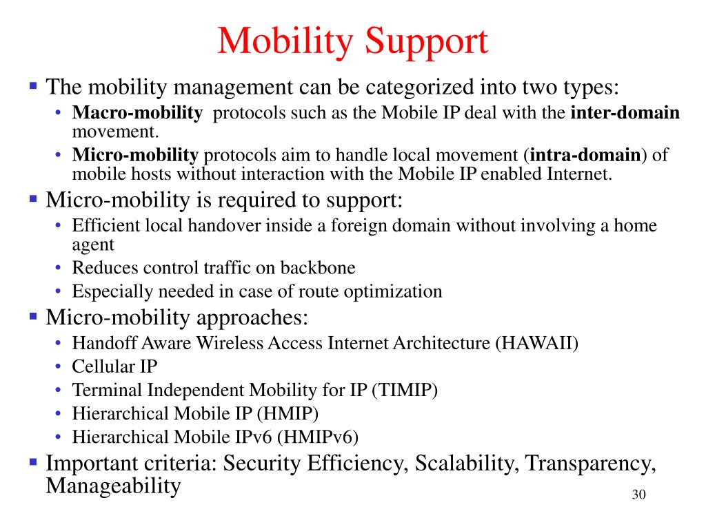 Mobility Support