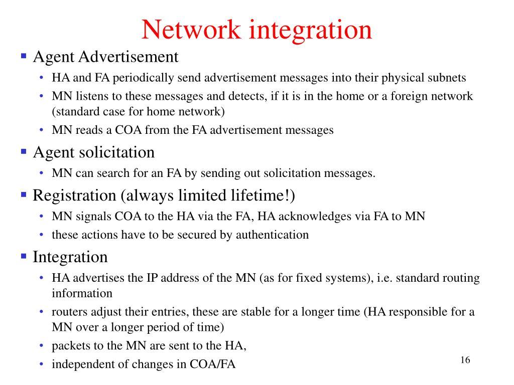 Network integration