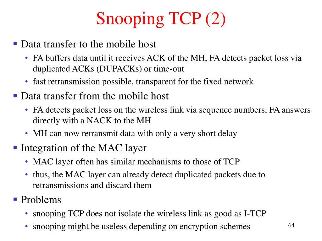 Snooping TCP (2)