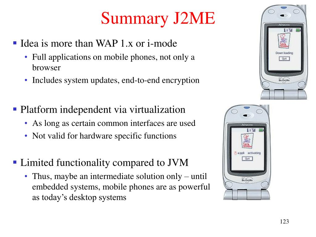 Summary J2ME