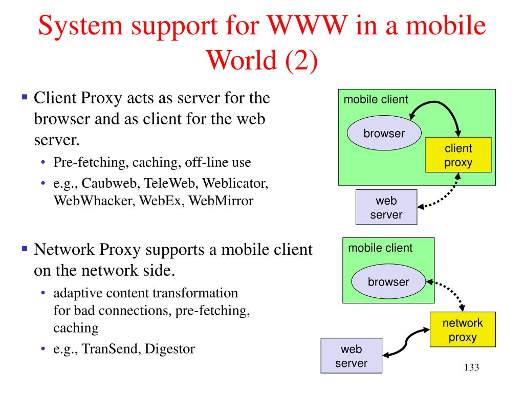 System support for WWW in a mobile World (2)