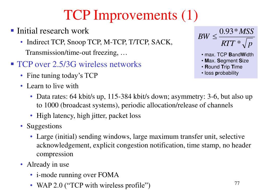 TCP Improvements (1)