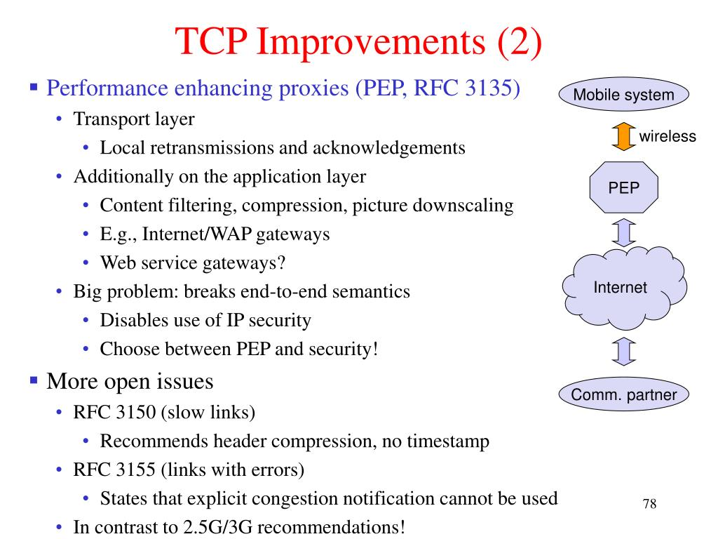 TCP Improvements (2)