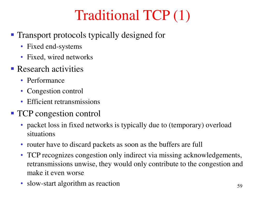 Traditional TCP (1)