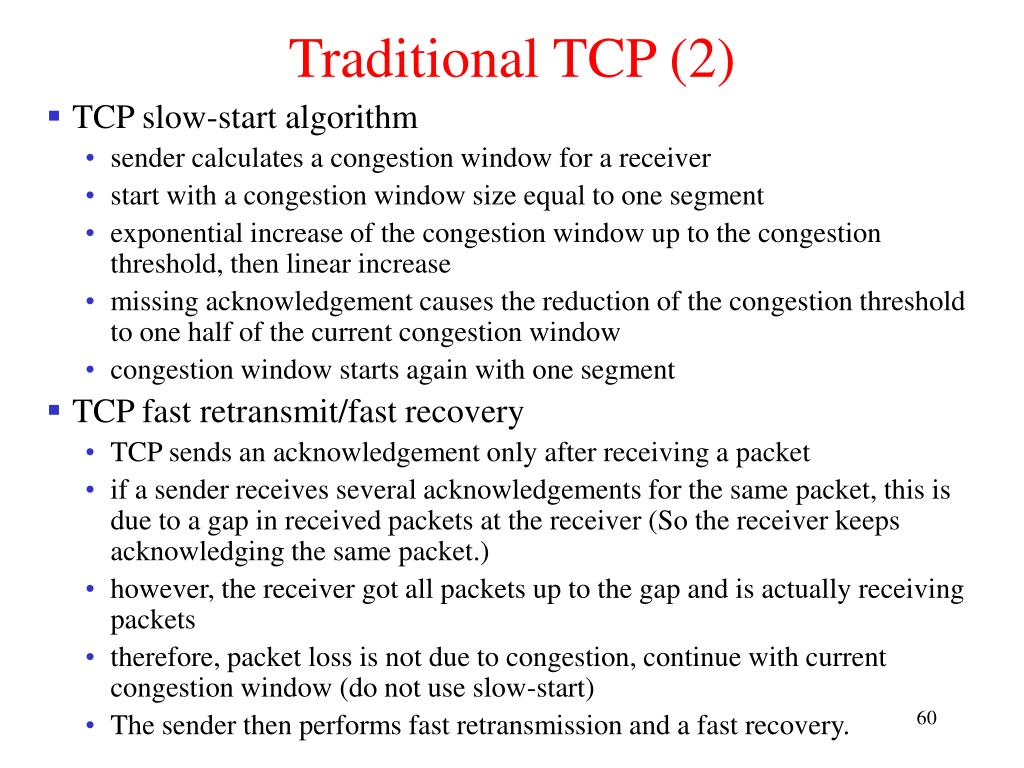 Traditional TCP (2)