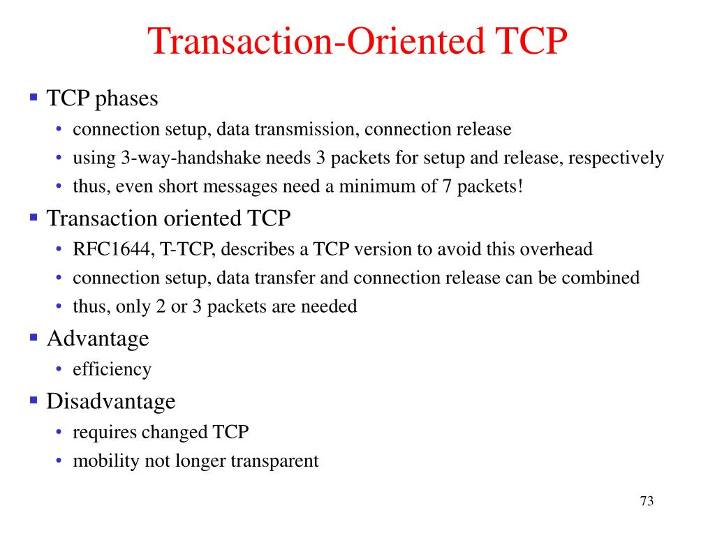 Transaction-Oriented TCP