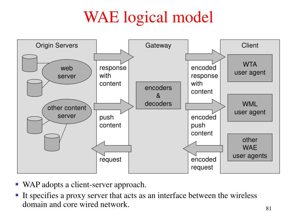 WAE logical model