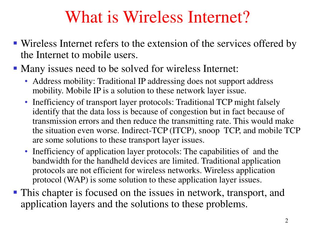 What is Wireless Internet?