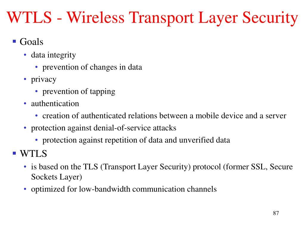 WTLS - Wireless Transport Layer Security