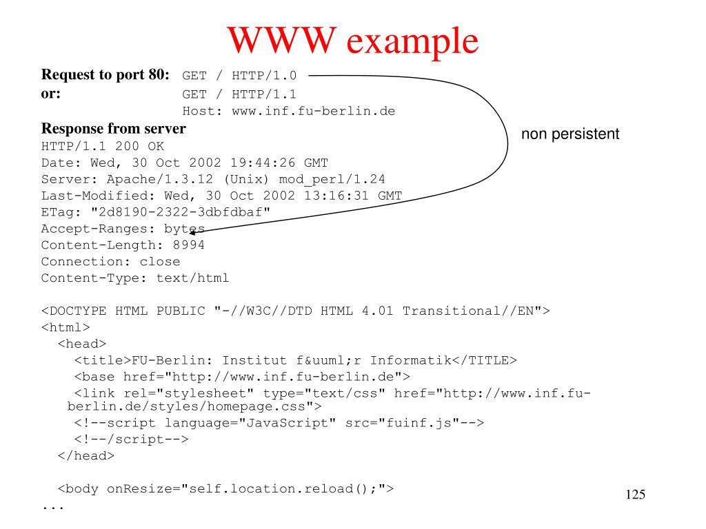 WWW example
