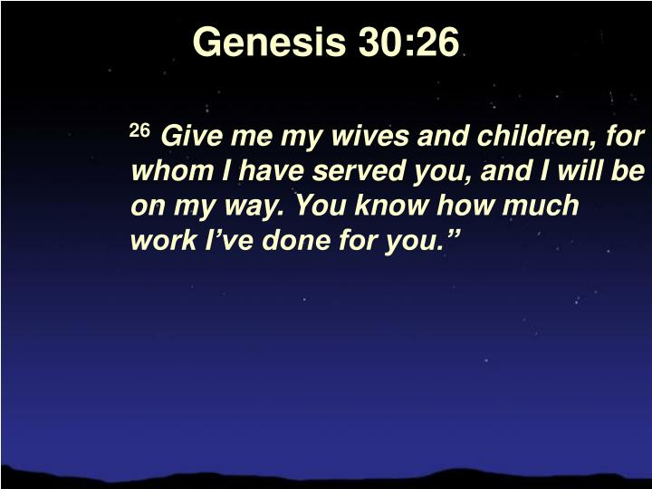 Genesis 30:26