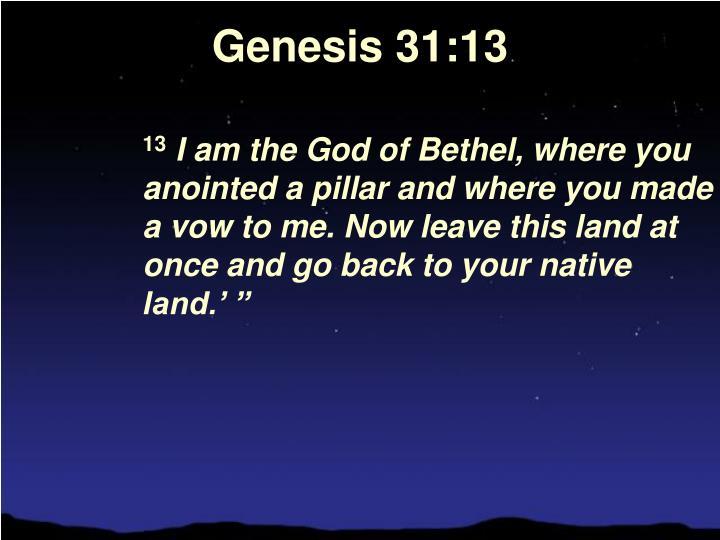 Genesis 31:13