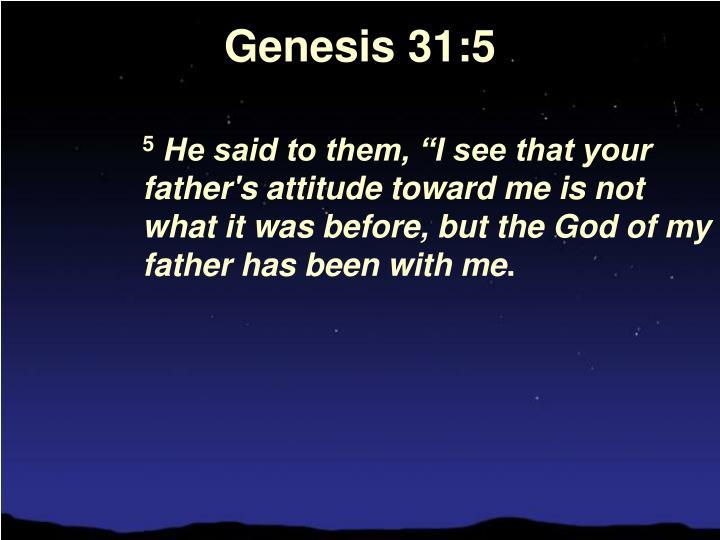 Genesis 31:5
