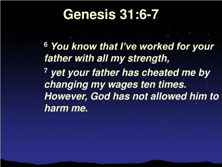 Genesis 31:6-7