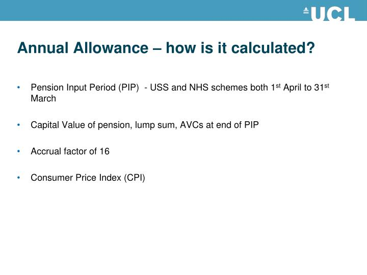 Annual Allowance – how is it calculated?