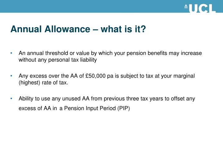 Annual Allowance – what is it?