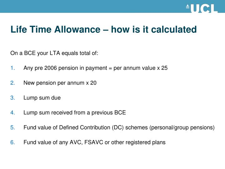 Life Time Allowance – how is it calculated