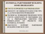 external partnership building some highlights