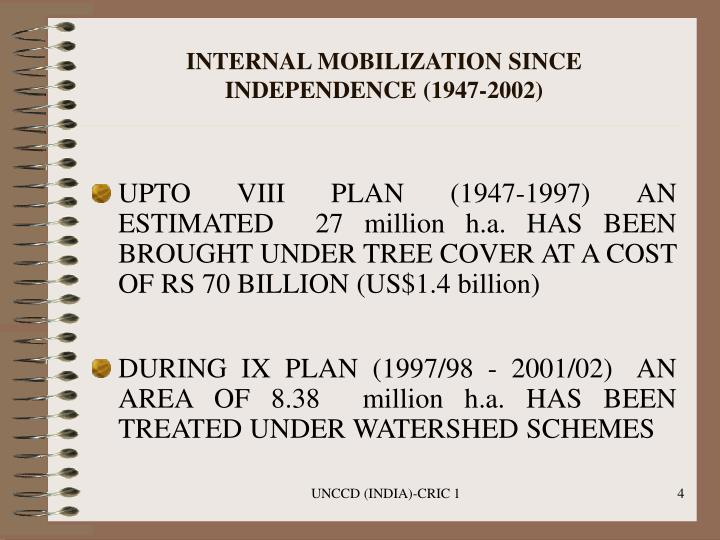 INTERNAL MOBILIZATION SINCE INDEPENDENCE (1947-2002)