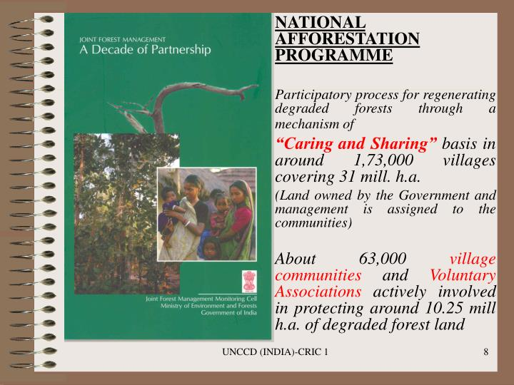 NATIONAL AFFORESTATION PROGRAMME