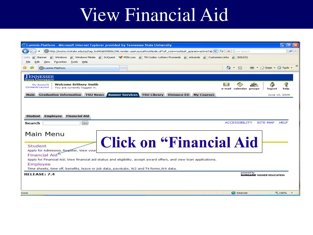 View Financial Aid