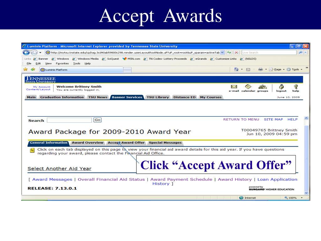 Accept  Awards