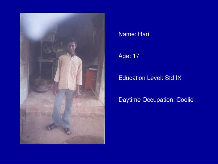 Name: Hari