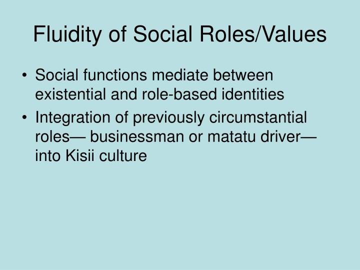 Fluidity of Social Roles/Values