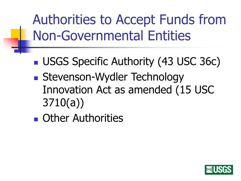 Authorities to Accept Funds from Non-Governmental Entities