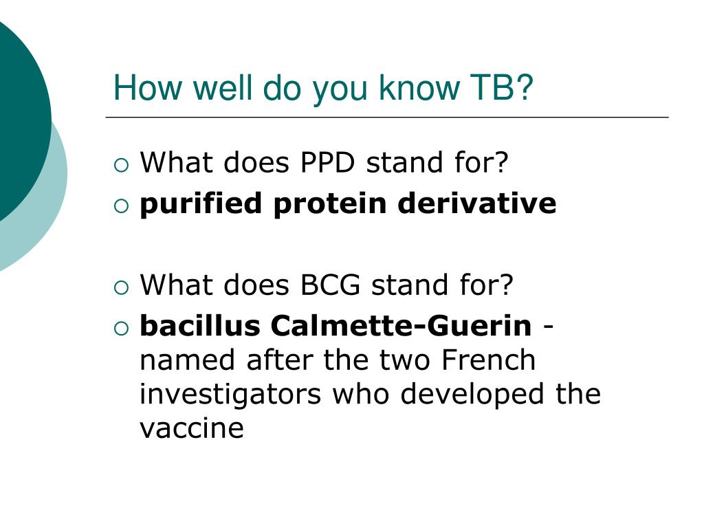 How well do you know TB?