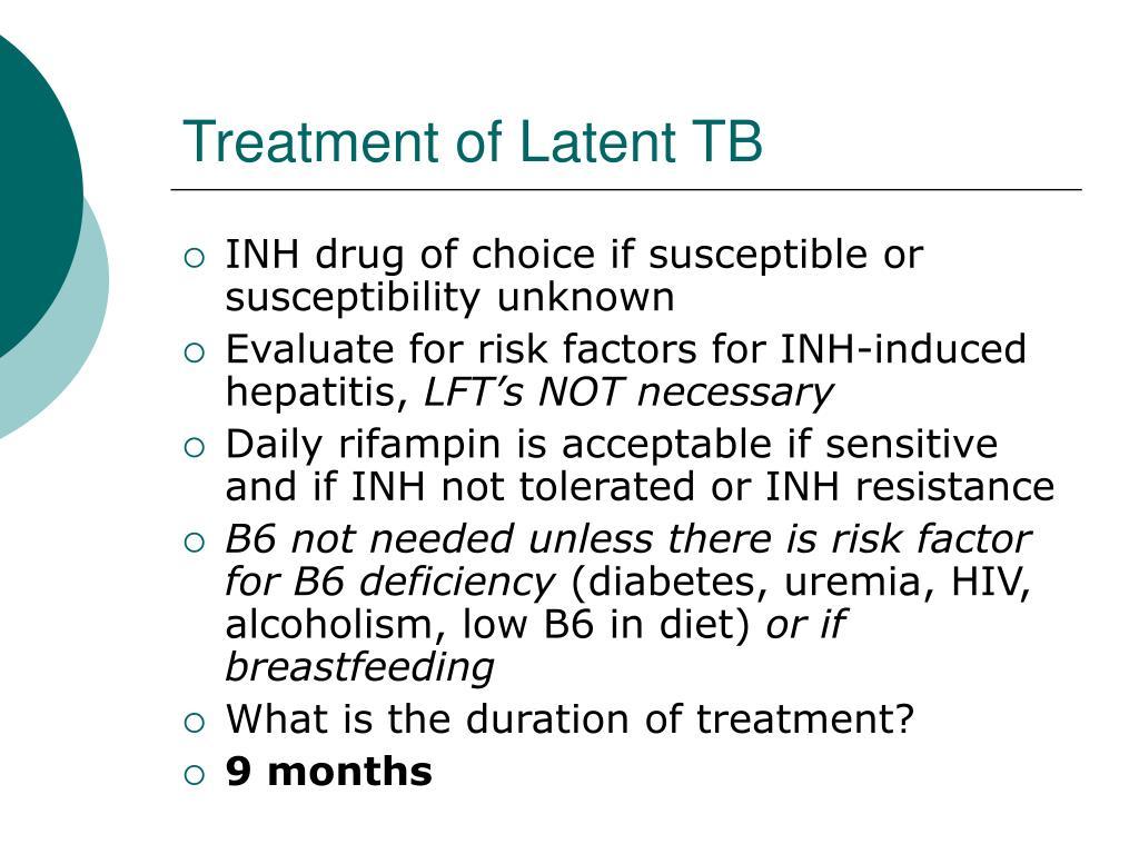 Treatment of Latent TB